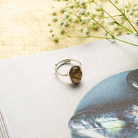 Labradorite Silver Adjustable Crystal Ring