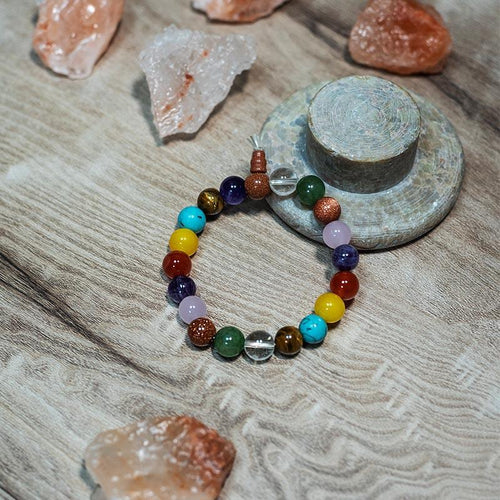 Multi Color Sparkle Round Bracelet