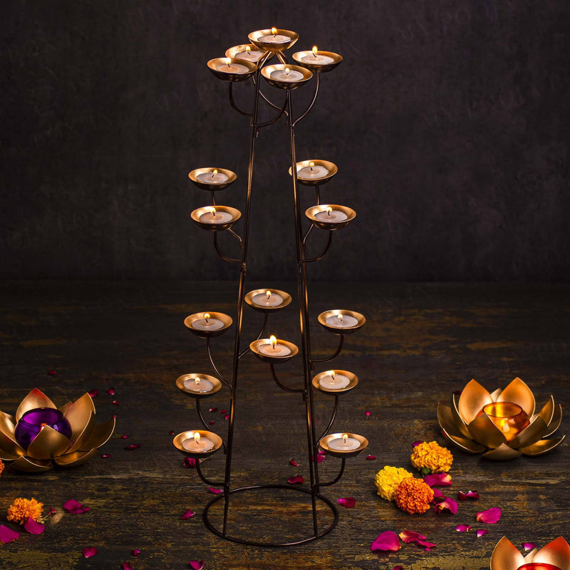 Stylish Handcrafted Branched Diya T-Light Stand