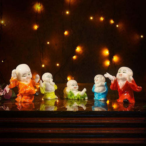 Baby Laughing Buddha Figurines