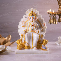 Blissful Sitting Lord Ganesh ji
