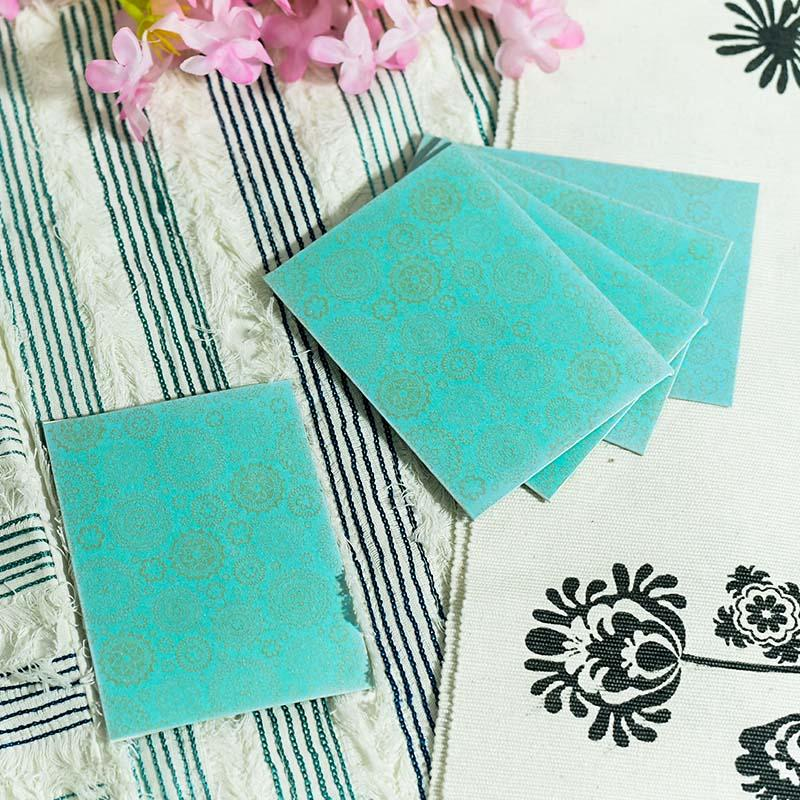 Blue Shagun Envelope (Pack of 5)