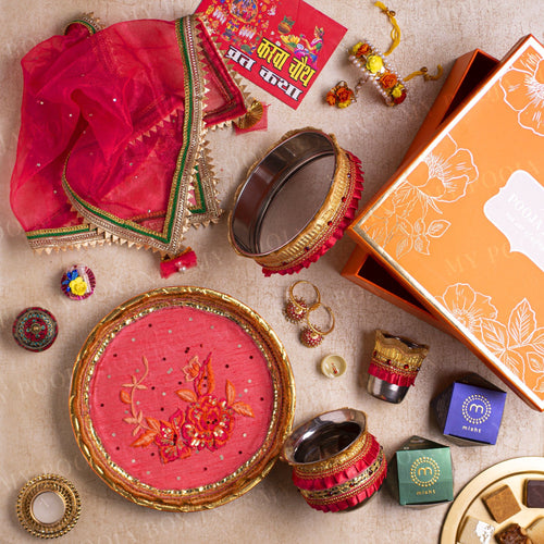 Magnificient Magnolia Bridal Box for Karwa Chauth