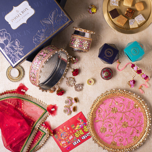Bridal Flora Gift Box for Karwa Chauth