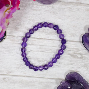Amethyst Crystal Healing Bracelet | Protection & Spirituality