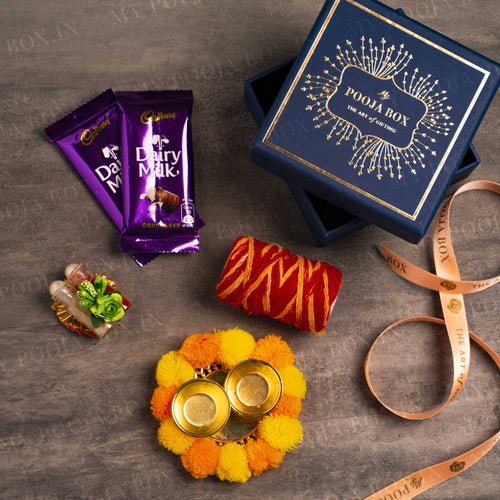 Azure Bhai Dooj Petite Box with Chocolate