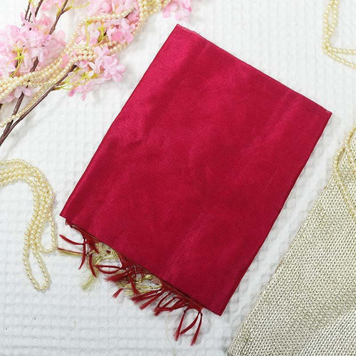 Beautiful Banarasi Silk Pink Dupatta
