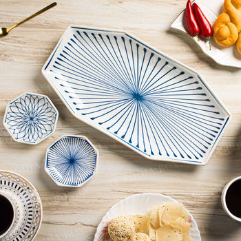 Octagon Pattern Ceramic Platter