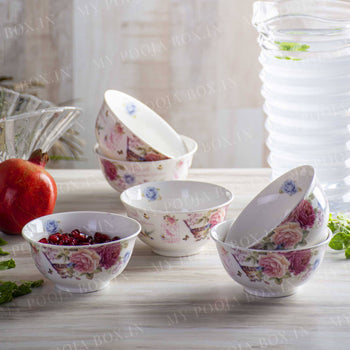 Floral Serving Bowls Set of 6