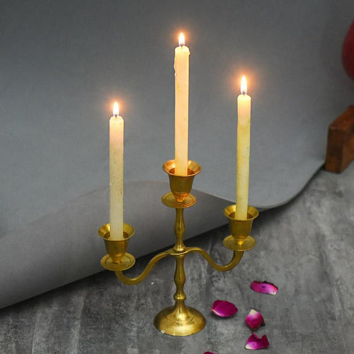 Exquisite Brass Candle Stand