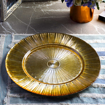 Radiant Golden Serving Plate