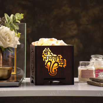 Shree Ganesh Namha Himalayan Salt Lamp Basket