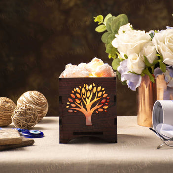 Wishing Tree Himalayan Salt Lamp Basket
