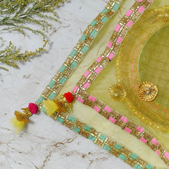 Tuscan Yellow Thali Cover