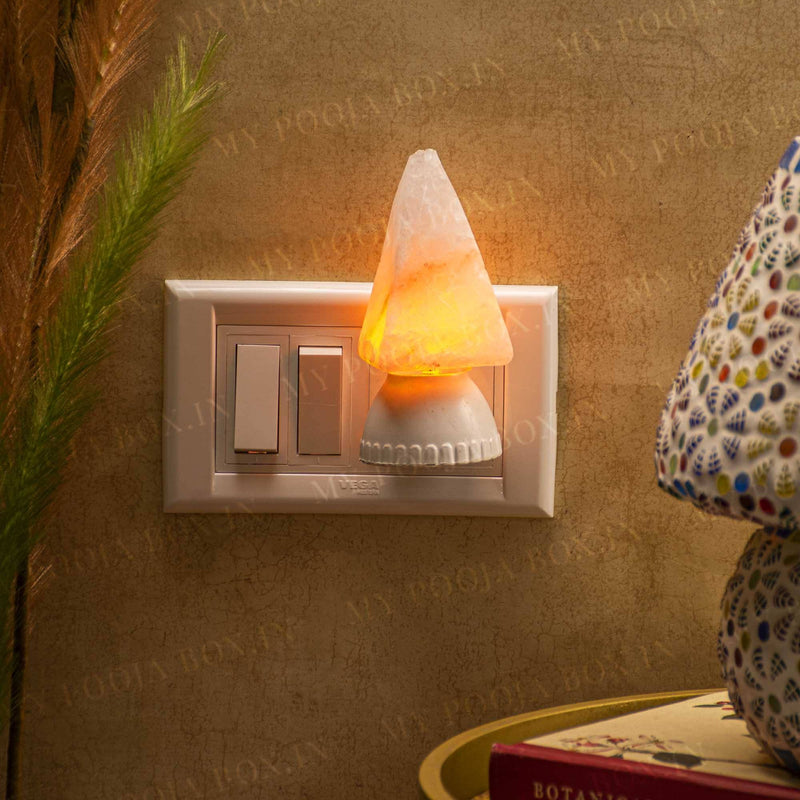 Pyramid Plug-In Himalayan Salt Lamp
