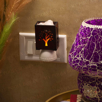 Wishing Tree Plug-In Himalayan Salt Lamp