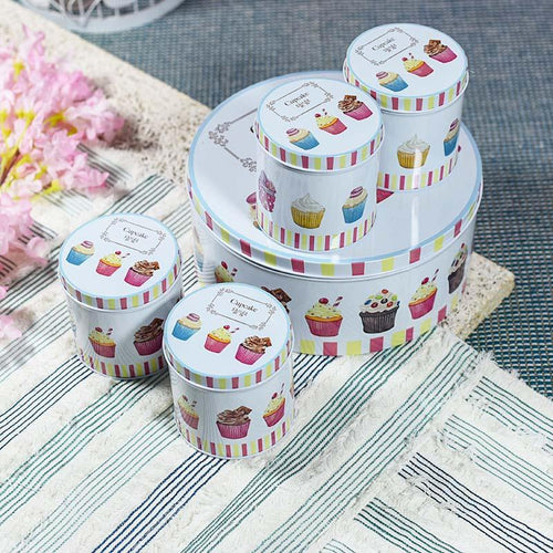 Flora Round Tin Case Set of 5