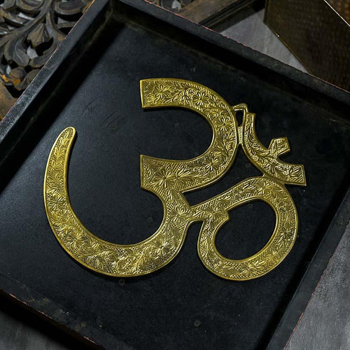 Antique OM Brass Wall Hanging