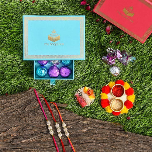 Suave Handcrafted Set of 3 Rakhi Box