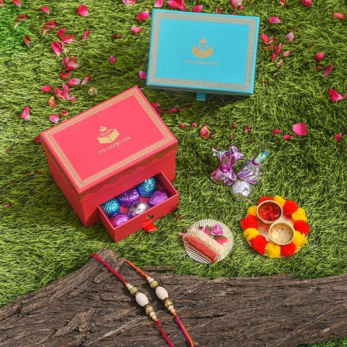 Alluring Rakhi Set of 2 Rakhi Box