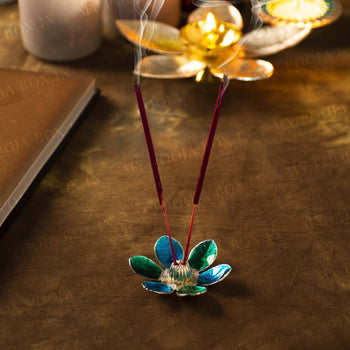 Turquoise Petal Incense Holder