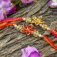 Elegant Floral Rakhi Set of 2