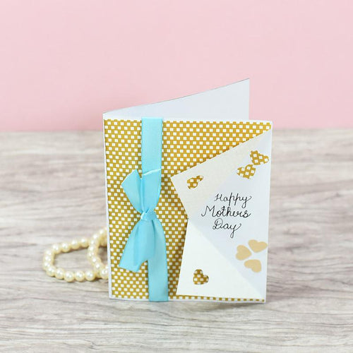 Mother's Day Turquoise Ribbon Greeting card