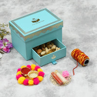 Mint Bhai Dooj / Tika Box with Dry Fruits