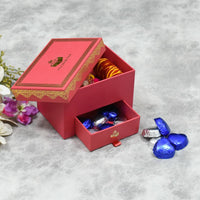 Rose Pink Bhai Dooj/ Tika Box with Chocolates