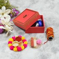 Rose Pink Bhai Dooj / Tika Petite Box with Chocolates