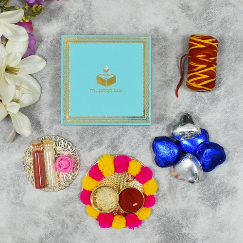 Mint Bhai Dooj / Tika Petite Box with Chocolates