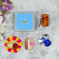 Blue Bhai Dooj / Tika Petite Box with Chocolates