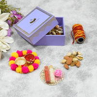 Lavender Bhai Dooj / Tika Petite Box with Dry Fruits