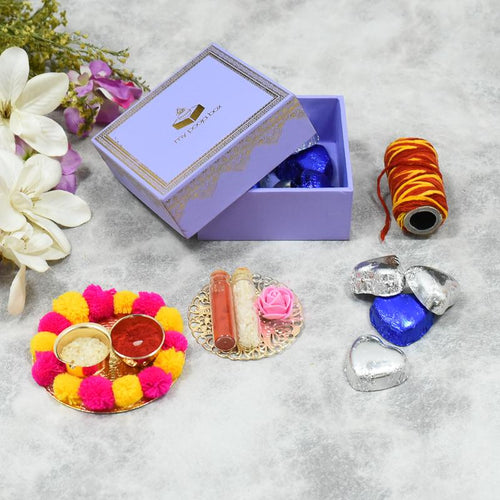Lavender Bhai Dooj / Tika Petite Box with Chocolates