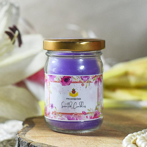 Lovely Lavender Glass Jar Scented Candle