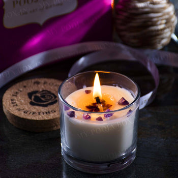 Kind Healing - Amethyst Crystal Energy Candle