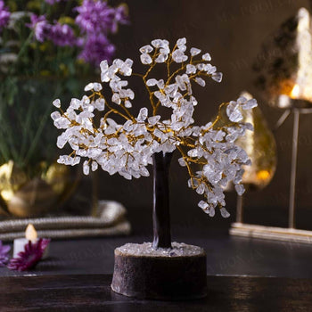 Clear Quartz Cleansing Crystal Stone Tree