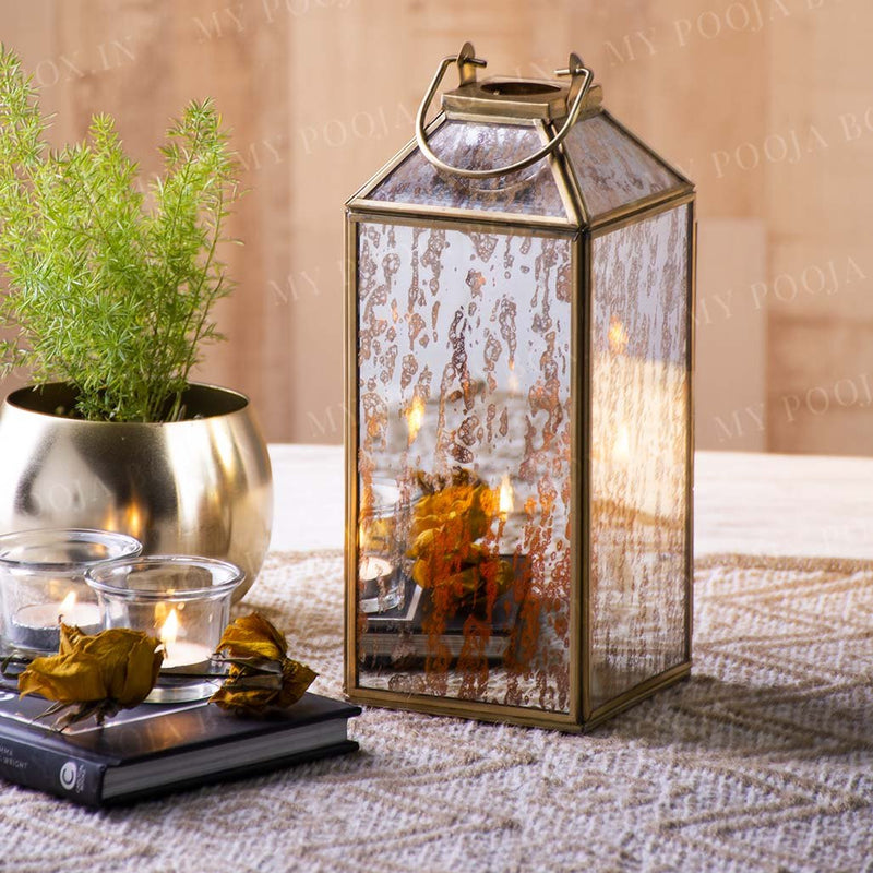 Alluring Windowpane Lantern For Home Decor