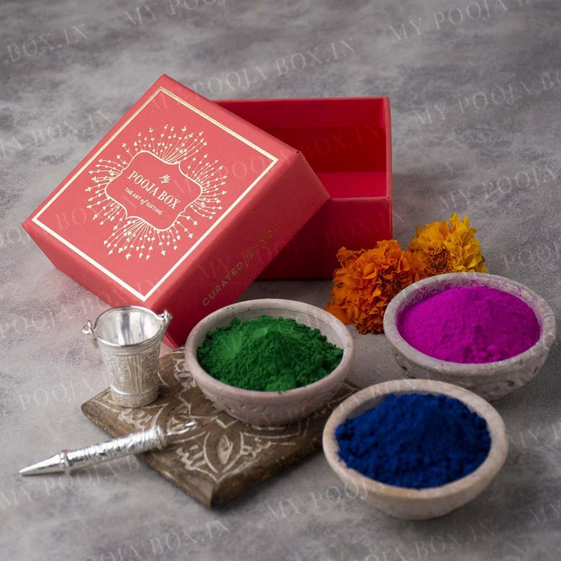Herbal Gulaal/Color Holi Petite Box