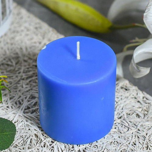 Basic Blue Pillar Candle