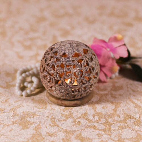 Round Shaped Marble Candle Holder