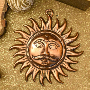 Sun God/Surya Metal Wall Hanging