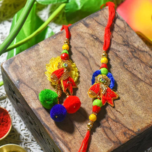 Fancy Bhaiya Bhabi Rakhi (Set of 2)