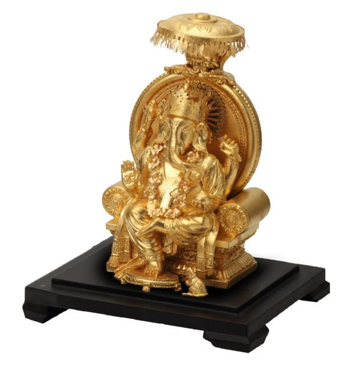 24K Gold Foil Ganesha with Cap Window