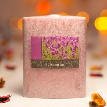 Pink Lavender Triangle Candle