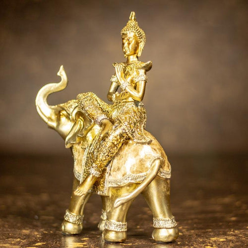 Exquisite Buddha On Elephant