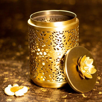 Exquisite Brass Nut/Dryfruits Decorative Container