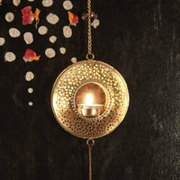 Handcrafted 3-Chandramala T-light Holder