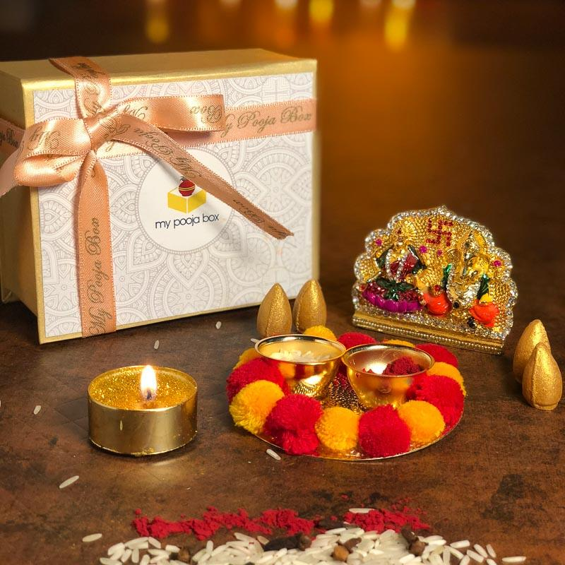Petite Vivid Colorful Diwali Pooja Box