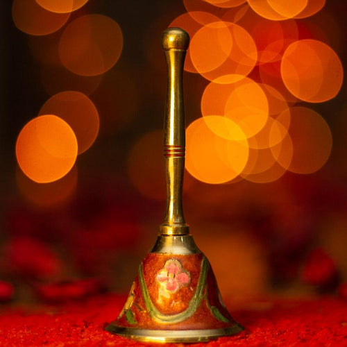 Handcrafted Red Brass Pooja Bell